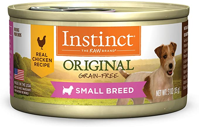Instinct Original Small Breed Grain Free Real Chicken Recipe Natural Wet Canned Dog Food by Nature's Variety, 3 oz. Cans (Case of 24): Pet Supplies: Amazon.com