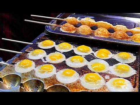 Xi'an (China) Street Food - Quail Egg Skewers - YouTube