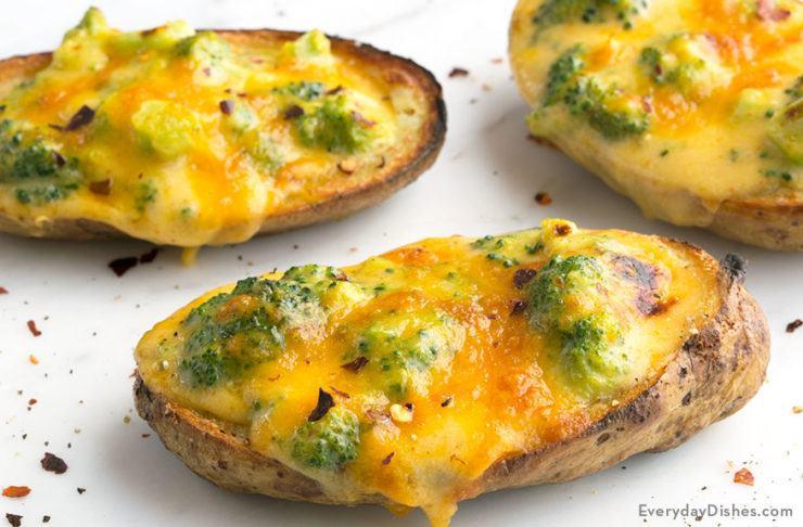 Broccoli Cheese Potato Skins Recipe